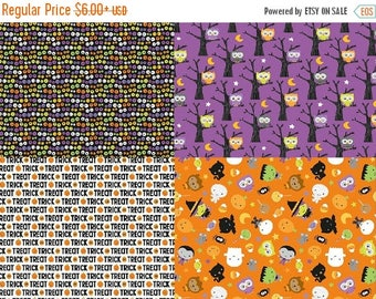 Sale Bundle of 4 Fabrics from Riley Blake Ghouls and Goodies Collection - 4 Fabrics