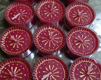 Henna tealight candles set