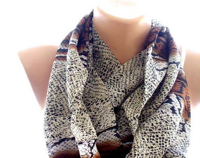 chiffon phyton print scarf, scarves for women, soft scarf, cozy scarf, trendy scarf