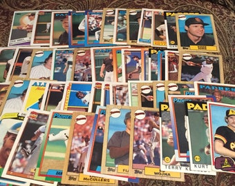 50 San Diego Padres Baseball Cards - 1980's