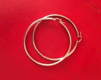 Sterling Silver Hoops Medium-Large Size