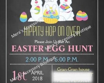Easter Chalkboard Invitation
