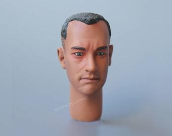 "1/6 Scale Forrest Gump Tom Hanks Head Sculpt Toy Model For 12""Action Figures"