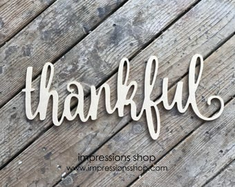 Thankful Cutout