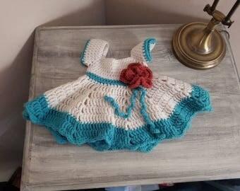 Infant crochet dress