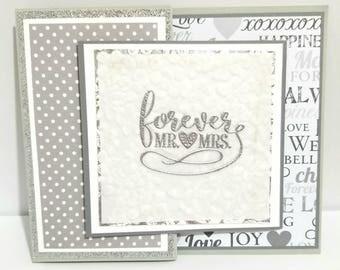 Wedding Z-Fold Card, Handmade Wedding Card, Wedding Card, Specialty Card, Z-Fold, Wedding