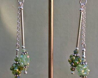 Yana Allied silver duo and swarovski earrings