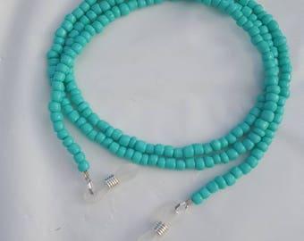 Turquoise eye glass holder