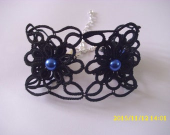 handmade tatted black /dentelle