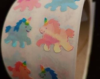 Plastic sticker roll with 50 breaks Unicorn