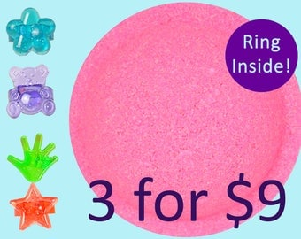 3 Bath Bomb with Ring, Kids Bath Bomb, Free Shipping. Jewelry Bath Bomb , Bath Fizzy Surprise. Canada Only