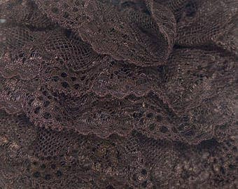 Scarf or vollant Brown lace scarf