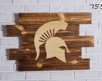 Michigan State Spartans Wood Sign Michigan State Spartans Wall art Michigan State Spartans Gift Michigan State Spartans Birthday