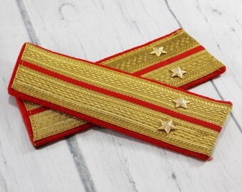 Soviet army shoulder straps collectible military supplies veterans day military uniform vintage army strap authentic army dress vintage coat