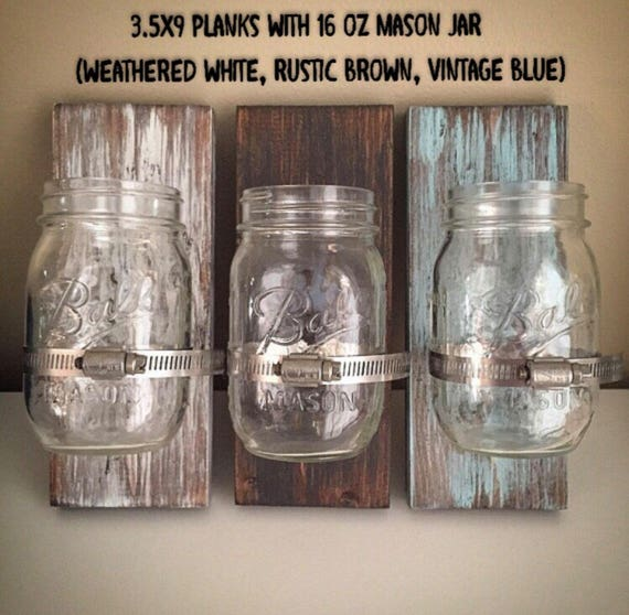 custom ball mason jar holders wooden glass jar clamp signs