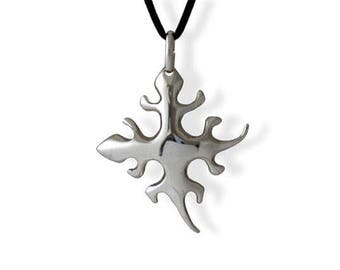 Necklace with Lizards Pendant in sterling silver 925 from tribal ethnic style - Lizards Pendant made in solid silver
