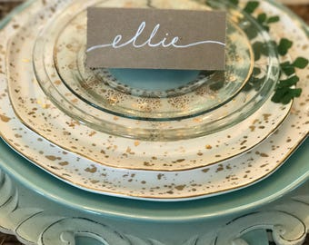 Wedding Calligraphy Placecards