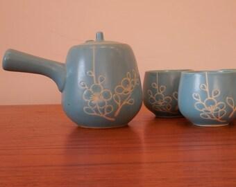 Blue Vintage Japanese Tea Set