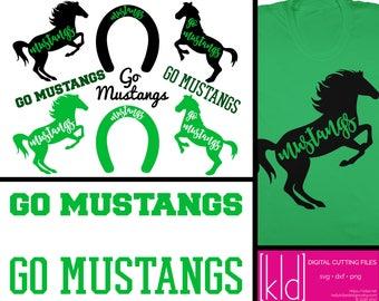 9 Go Mustangs - Mustangs SVG - Mustang SVG - High School or Little League Team - Mustang Baseball - Mustang Basketball