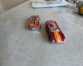 HOTWEELS mattel malayzia 1987+corvette 66 mattel 1999 two metal cars