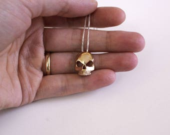 SmokeQuest - Tiny Skull Necklace