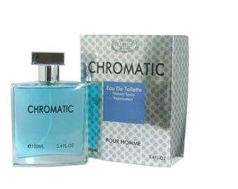 Chromatic Perfume 3.3 OZ Eau De Parfum Spray fragrance for man Inspired by  Chrome