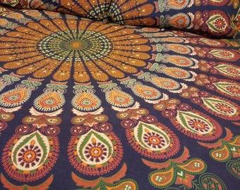 Mandala tapestry, mandala bedding, Boho wall hanging, Boho Decor, tablecloth, mandala duvt cover, wall tapestry, Hippie tapestry