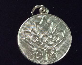 Sterling silver 1976  Olympic charm vintage # 201s