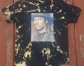 Bleached black medium future concert tee