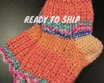 Pedicure Socks, Flip Flop Socks, Crochet Pedicure Socks, Toe-less  Socks, Yoga Socks, Gift For Her, Pilates Socks