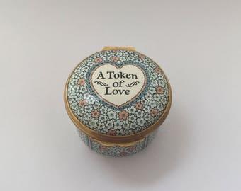 """A Halcyon Days """"Token of Love"""" Pill Box"""