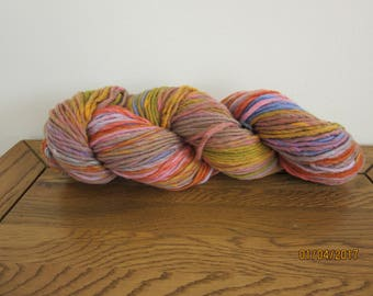 100% Wool Colourscape Type Chunky Knitting Yarn - Cafe Au Lait Shade 100G HANK