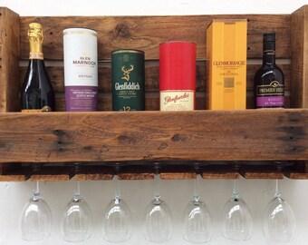 Reclaimed Pallet Wine/Liquor Rack