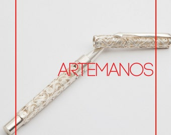 Filigree // Pen// Silver // Handmade // Deco // Home // Office // Gifts // For Him // For Her