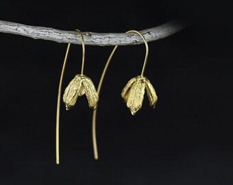 Gold & Silver Tulip Earrings
