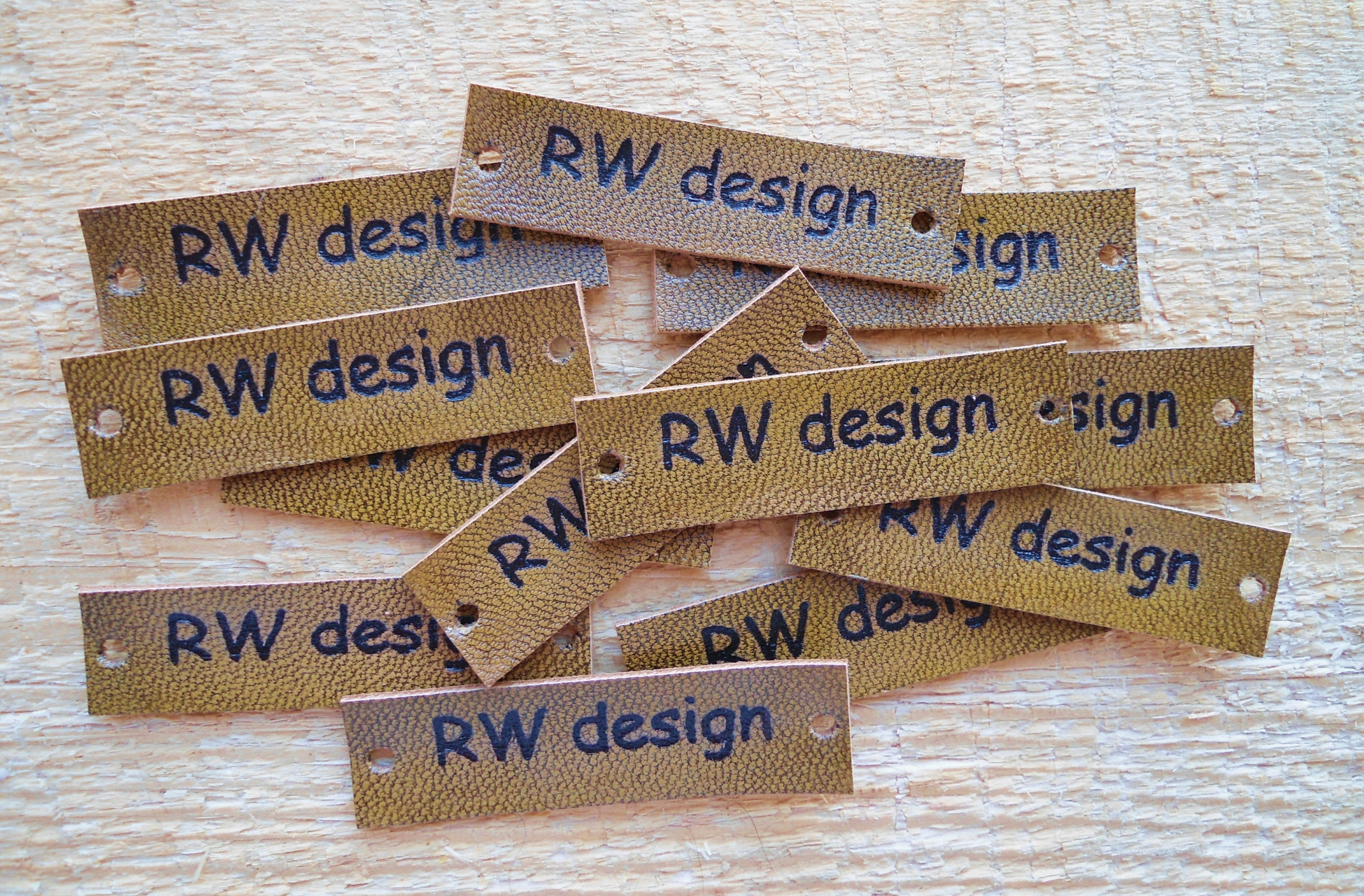 Knitting Labels Canada : Set of pc personalized leather labels knitting label