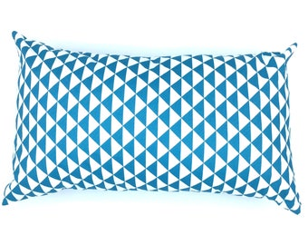 "Cushion ""Mustard & turquoise Triangles"""