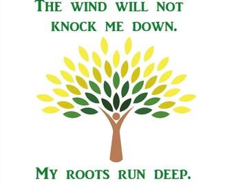 Roots Cross Stitch Pattern