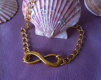 small bracelet infinity gold metal