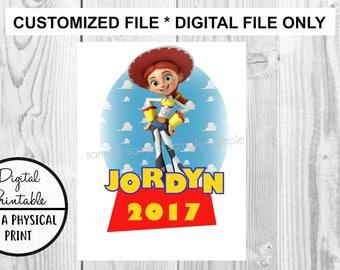 Toy Story Birthday Printable Iron On Transfer - DIY shirt tshirt - Jessie printable - personalized Customized Birthday Boy Girl