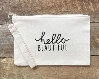 Hello Beautiful Makeup Bag FREE SHIPPING