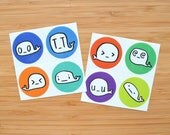 Woeful Whale Sticker Squares