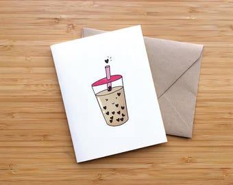 Winking Boba - Valentine's Day Card