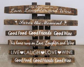 Custom Wine Barrel Sign Personalized Family Wedding Decor Newlywed Gift