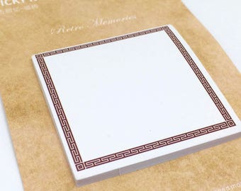 Vintage Greek Frame Memo Notepad