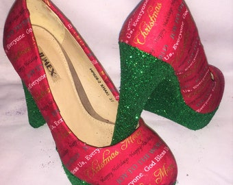Christmas shoes / heels * * * uk sizes 3-8 * * *
