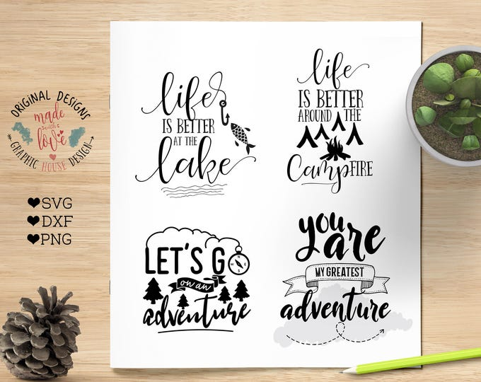 svg bundles, adventure svg, camping svg, outdoors svg, vacation cutting files, explore svg, nature svg, cutting files bundle, t-shirt design