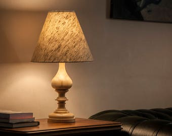 Table lamp, wood table lamp, handmade lamp, bedside lamp, unique lamp, wood lamp, wooden table light, wooden table lamp, natural lamp, lamp