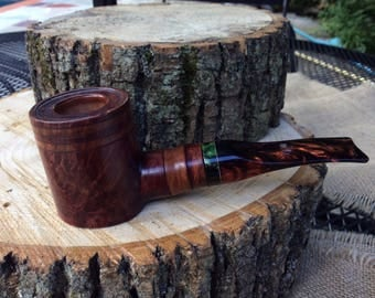 Smooth Slanted Poker Sitter, Wooden Smoking Pipe, Tobacco Pipe, Briar Pipe, Pipe, Smoking Pipe, Handmade Pipe
