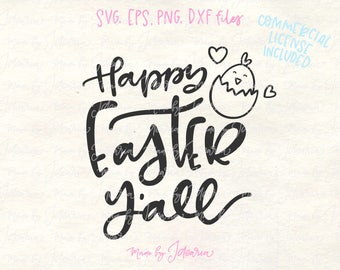 Happy easter svg, easter svg, easter svg files, easter shirt svg, easter yall svg, easter svg designs, easter svg cricut, easter svg adults